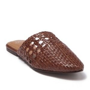 NEW Jeffrey Campbell basketweave leather mules